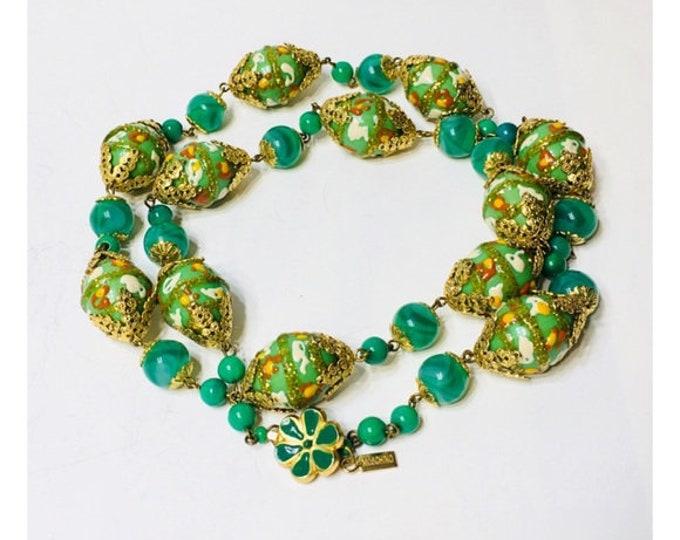 Moschino Venetian Murano Glass Bead Necklace Free US Shipping