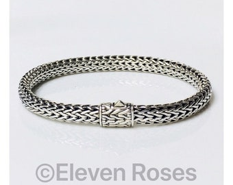 John Hardy Classic Chain Bracelet 925 Sterling Silver Free US Shipping