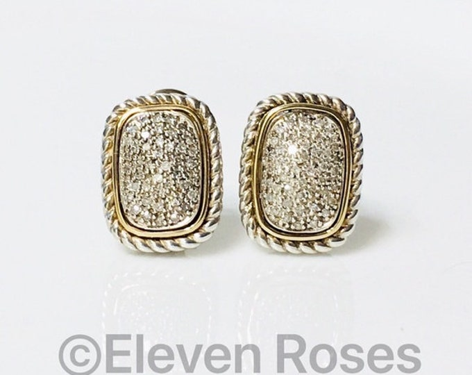 Alwand Vahan Diamond Stud Earrings 925 Sterling Silver 585 14k Gold Free US Shipping
