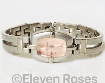 a6d27facf2f Vintage Gucci Pink Bracelet Watch Free US Shipping