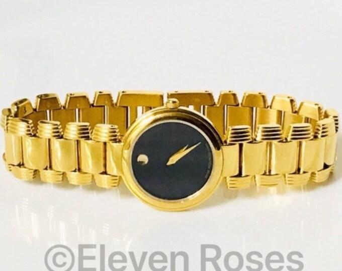 Movado Gold Serenade Swiss Quartz Watch Free US Shipping
