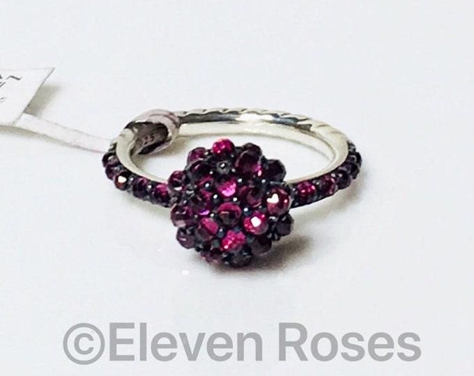 David Yurman Rhodolite Garnet Berries Ring 925 Sterling Silver Free US Shipping