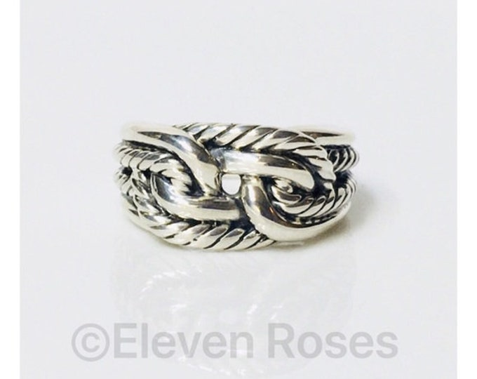 David Yurman Wide Cable Loop Ring Free US Shipping