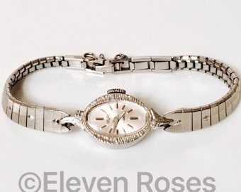Vulcain 17 Jewel Mechanical Ladies Watch Silver Diamond Accents Includes All Original Packaging Free US Shipping