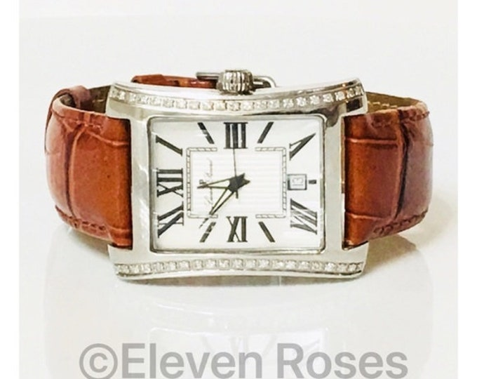 Lucien Piccard Diamond Tank Watch Free US Shipping