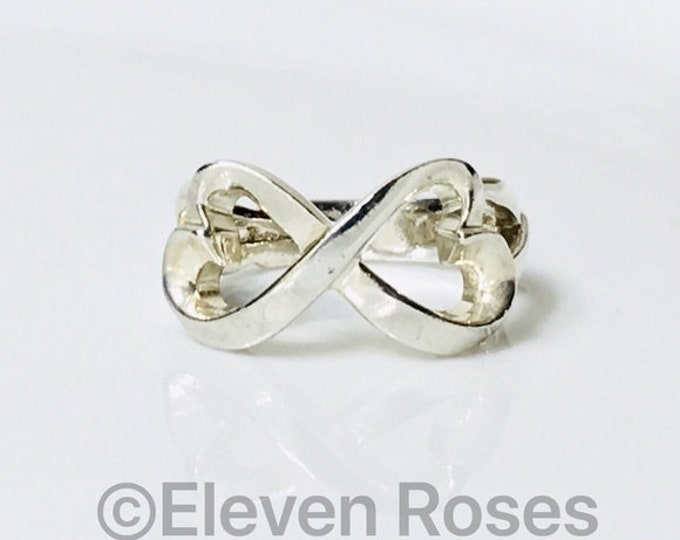 Tiffany & Co. Paloma Picasso Double Loving Heart Ring 925 Sterling Silver Free US Shipping