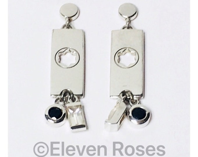 Mont Blanc Boheme Dangle Drop Earrings 925 Sterling Silver Free US Shipping