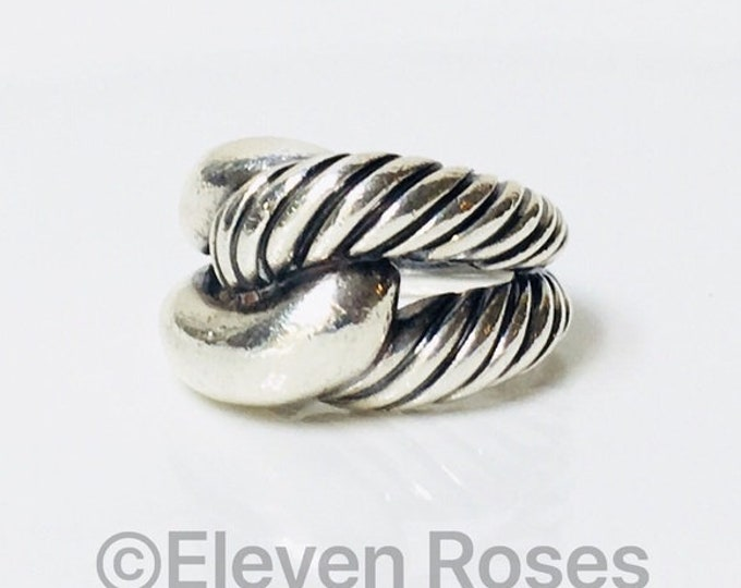 David Yurman Large Infinity Knot Statement Ring DY 925 Sterling Silver Free US Shipping