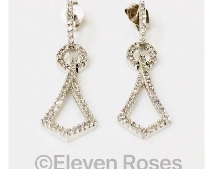 Alwand Vahan 14k Gold Diamond Dangle Drop Earrings Free US Shipping