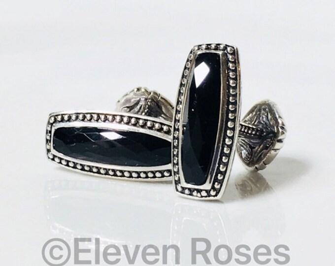 Scott Kay Unkaged Black Onyx Cufflinks 925 Sterling Silver Cuff Links Free US Shipping