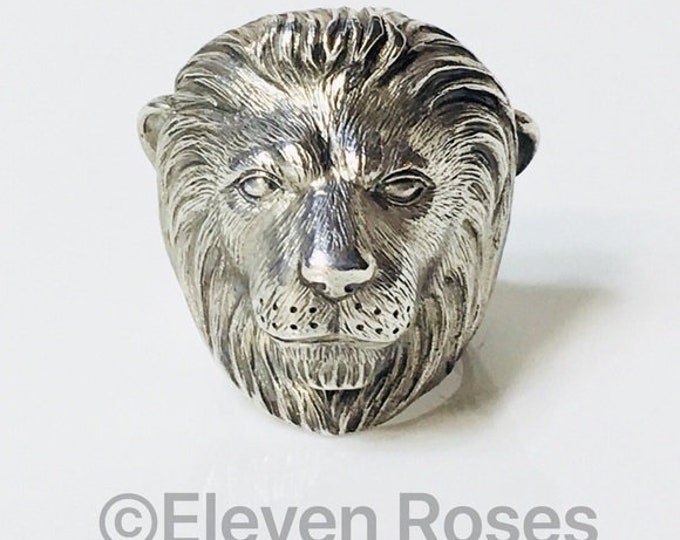 Theo Fennell Large Alias Lion Beastie Ring 925 Sterling Silver Free US Shipping