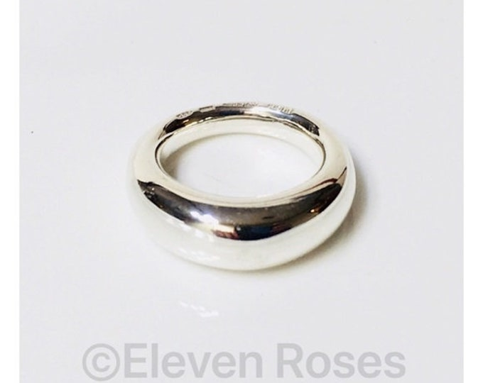 Designer Gucci Unisex Dome Statement Ring 925 Sterling Silver Free US Shipping