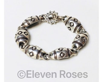 Lisa Jenks Large Link Toggle Chain Bracelet 925 Sterling Silver Free US Shipping