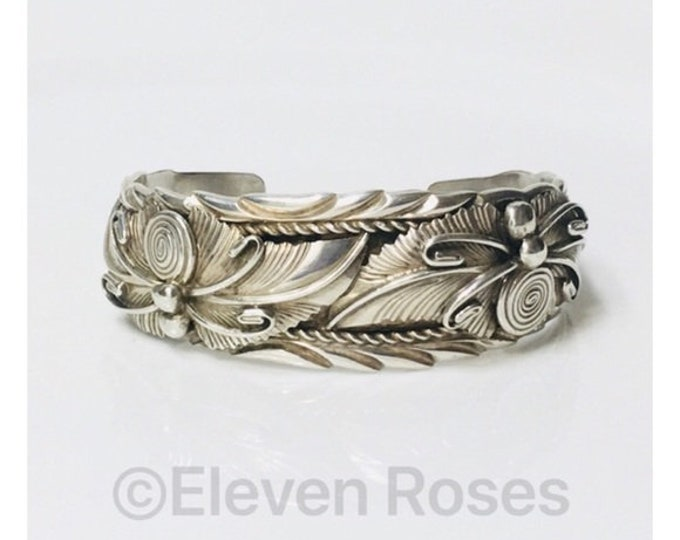 Lee Chee Navajo Cuff Bracelet 925 Sterling Silver Free US Shipping