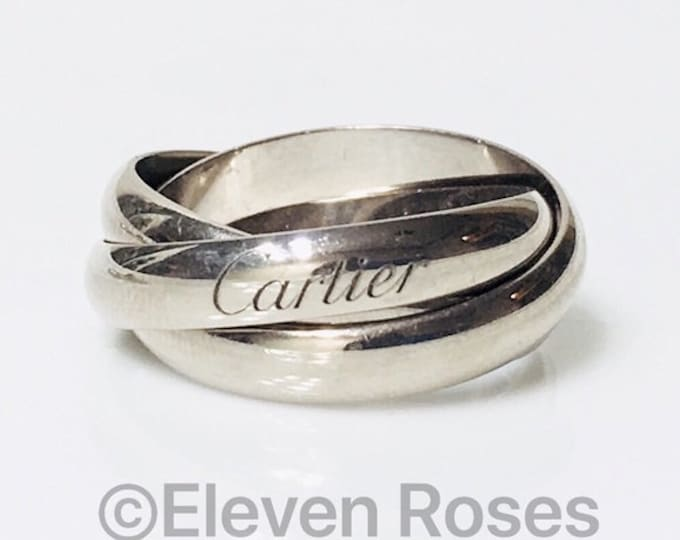 Cartier 750 18k Rolling Trinity Three Band Ring Free US Shipping