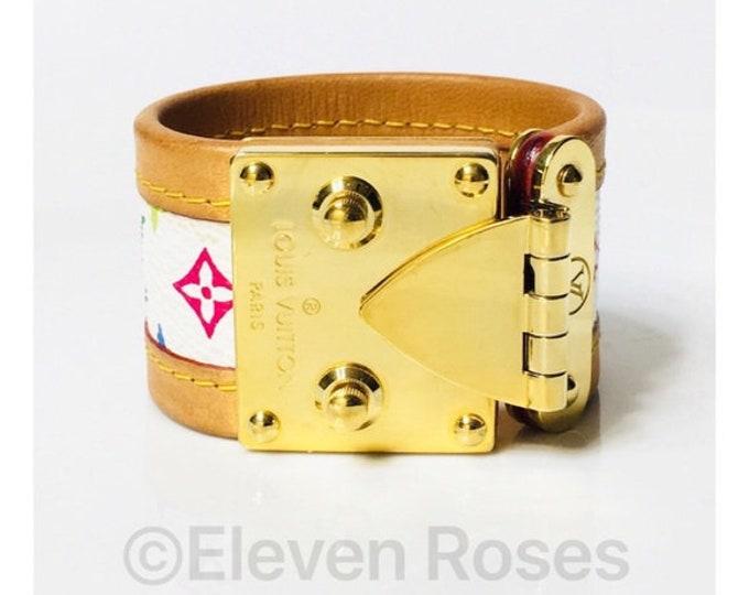 Louis Vuitton Multi Color LV Monogram Multi Color Murakami Cuff Bracelet Free US Shipping