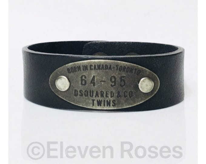DSquared2 Twins 64 95 Leather Bracelet Free US Shipping