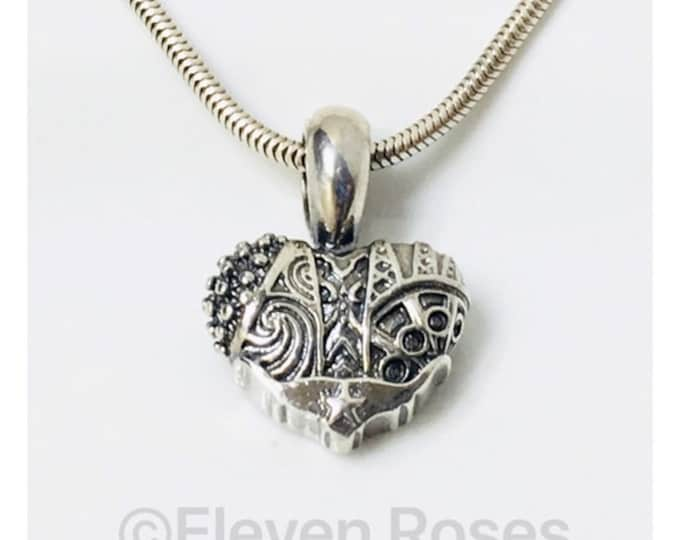 Lagos Caviar Heart of Texas Pendant 925 Sterling Silver Free US Shipping