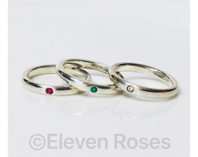 Tiffany & Co Elsa Peretti Set Of 3 Stack Rings Free US Shipping