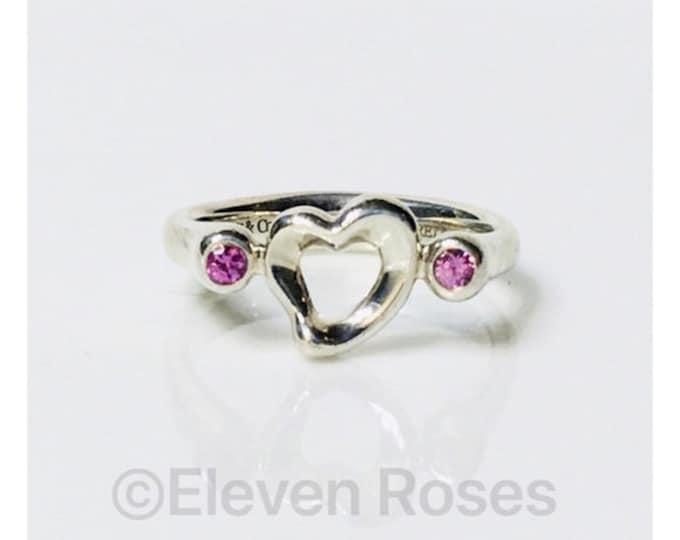 Tiffany & Co. Elsa Peretti Pink Sapphire Ring Free US Shipping