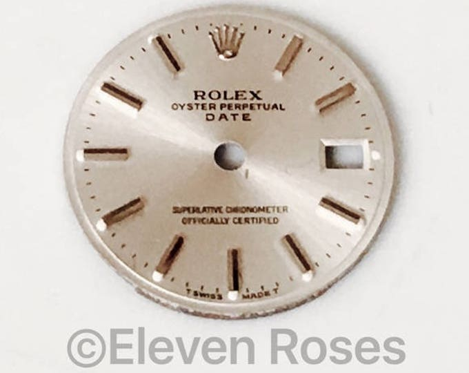 Rolex Silver Oyster Date Replacement Dial Free US Shipping