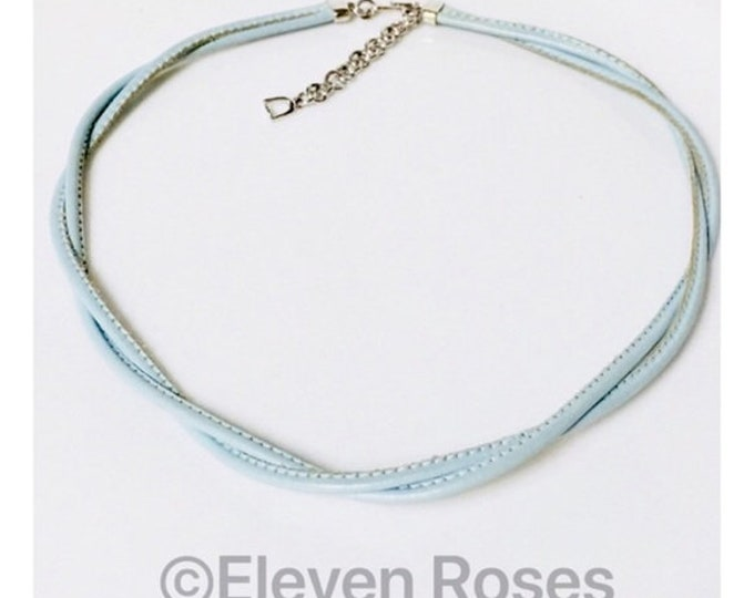 Carrera Y Carrea 750 18k White Gold & Leather Necklace Free US Shipping