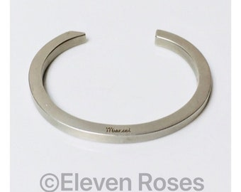 Miansai Brushed 925 Sterling Silver Ipsom Cuff Bracelet Free US Shipping