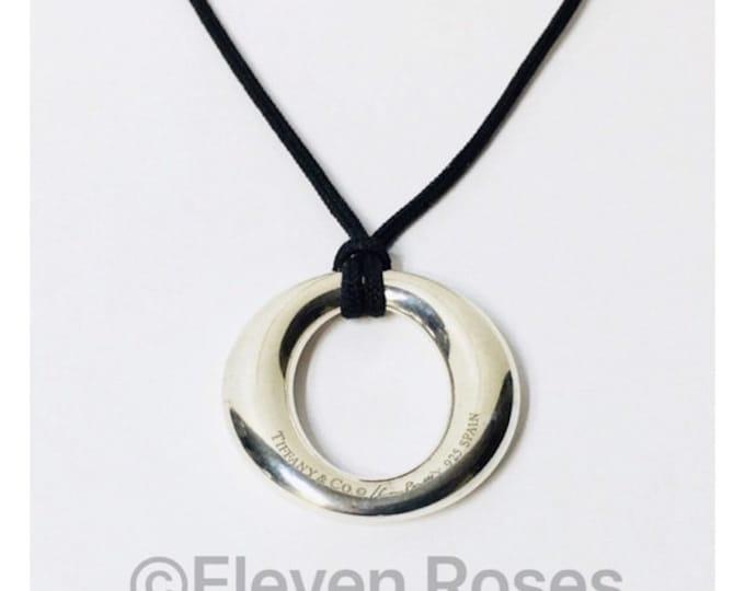 Tiffany & Co. Elsa  Peretti Sevillana Pendant Necklace 925 Sterling Silver Free US Shipping