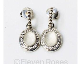 John Hardy Batu Bedeg Sapphire Quartz Dangle Hoop Earrings 925 Sterling Silver 18k Gold Free US Shipping