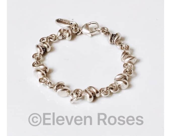 Saint Sarah Jane Cable Link Bracelet  925 Sterling Silver Free US Shipping