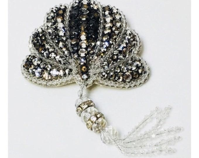 Gucci Runway Crystal Shell Brooch Free US Shipping