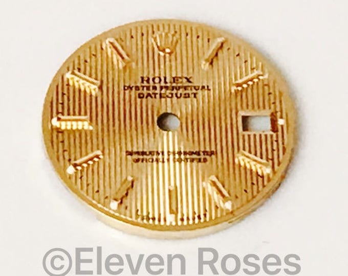 Rolex Gold Oyster Datejust Replacement Dial Free US Shipping