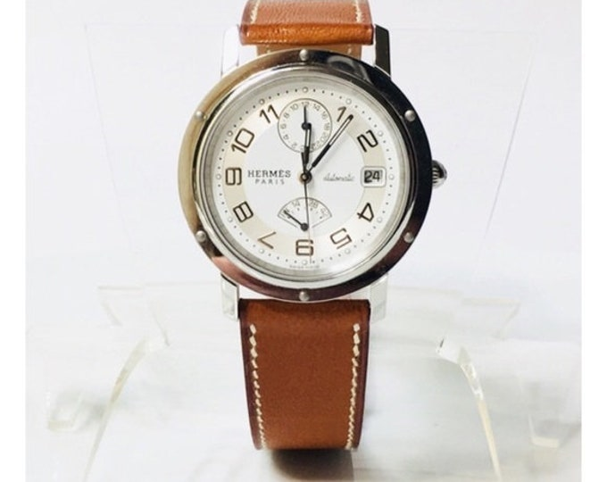 Mens Hermes Clipper Automatic Chronograph Watch CL2.810 Free US Shipping