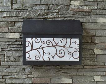 Modern Rectangular Mailbox - Ivy League Design