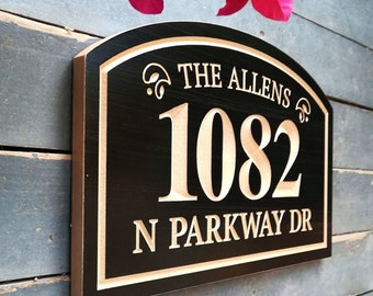 Outdoor Address Sign Etsy