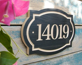 """11""""x8"""" Classic House Number Engraved Plaque (numbers only) Housewarming Gift, Realtor Gift, Address Sign, House Number, carved wood sign"""