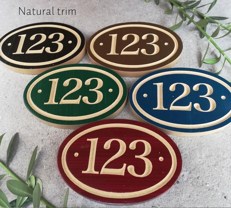 """Personalized house number Classic Address Sign with Street Name 15/"""" x 10/"""""""