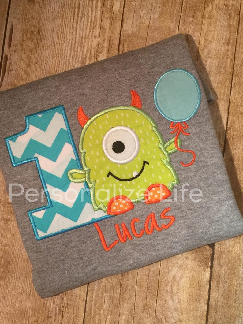 Monster Birthday Shirt/first Birthday/Monster 1st Birthday image 0