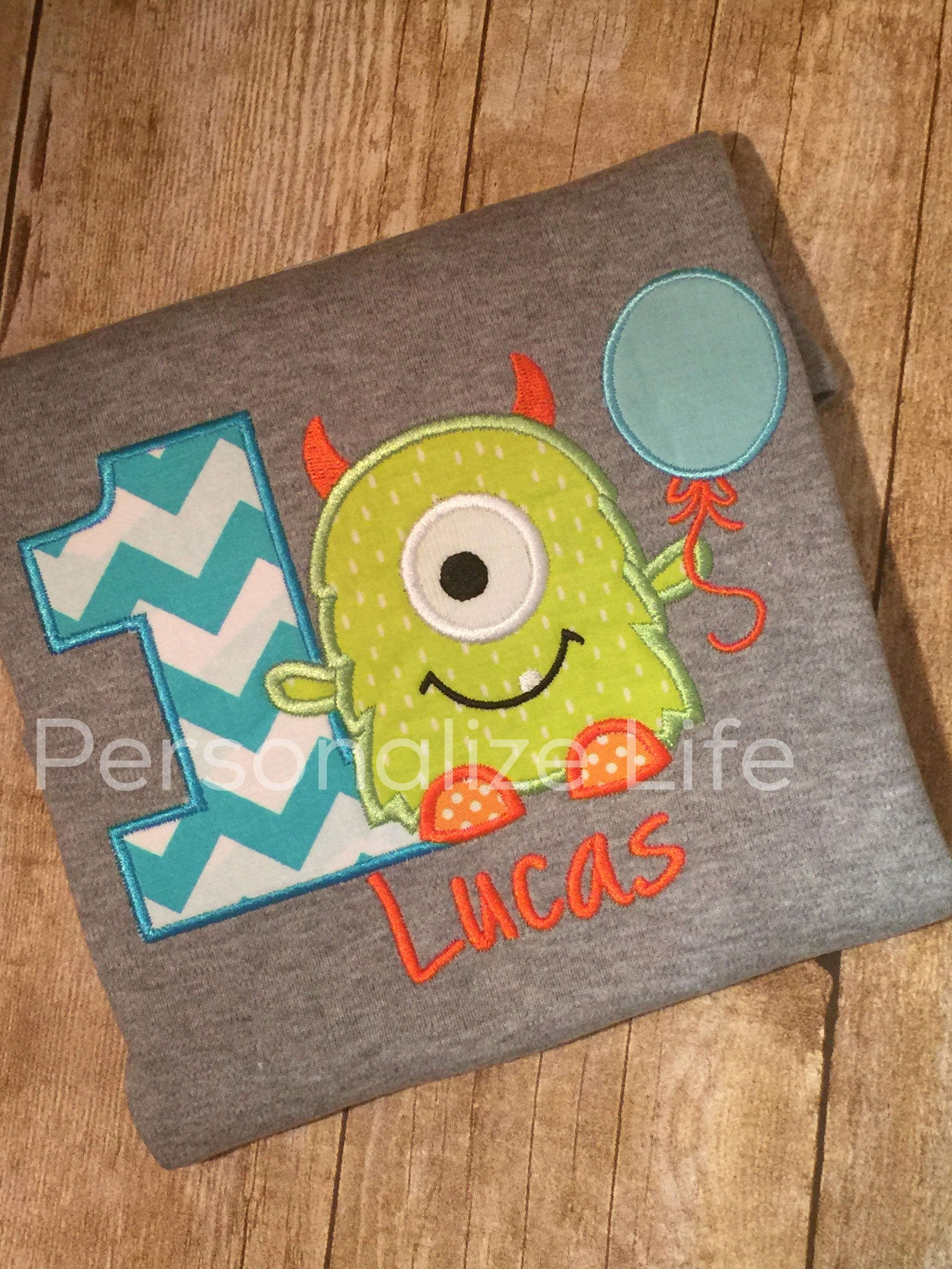 Monster Birthday Shirt First 1st Boys Party