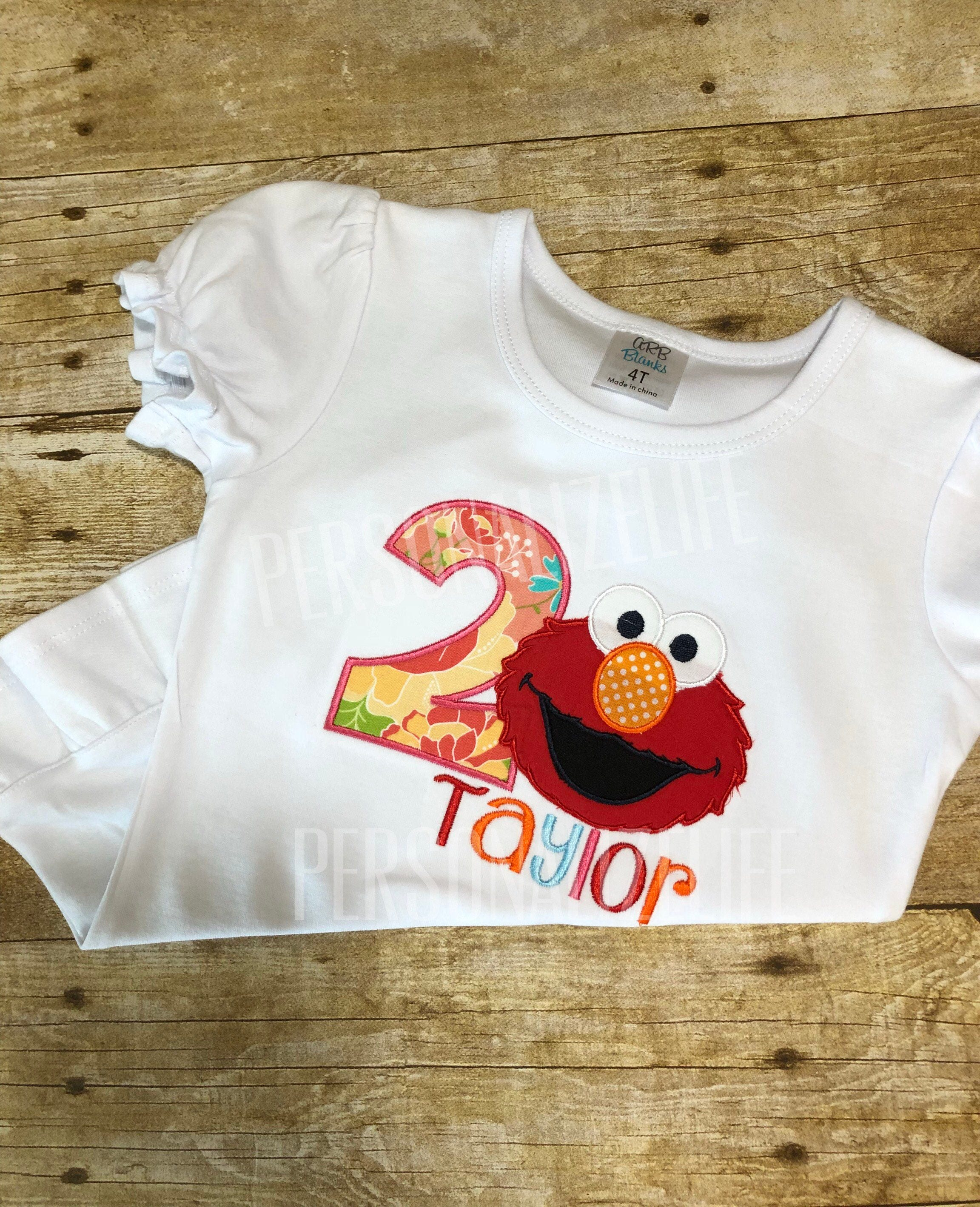 Elmo Birthday Shirt Sesame Street ShirtGirls 2nd