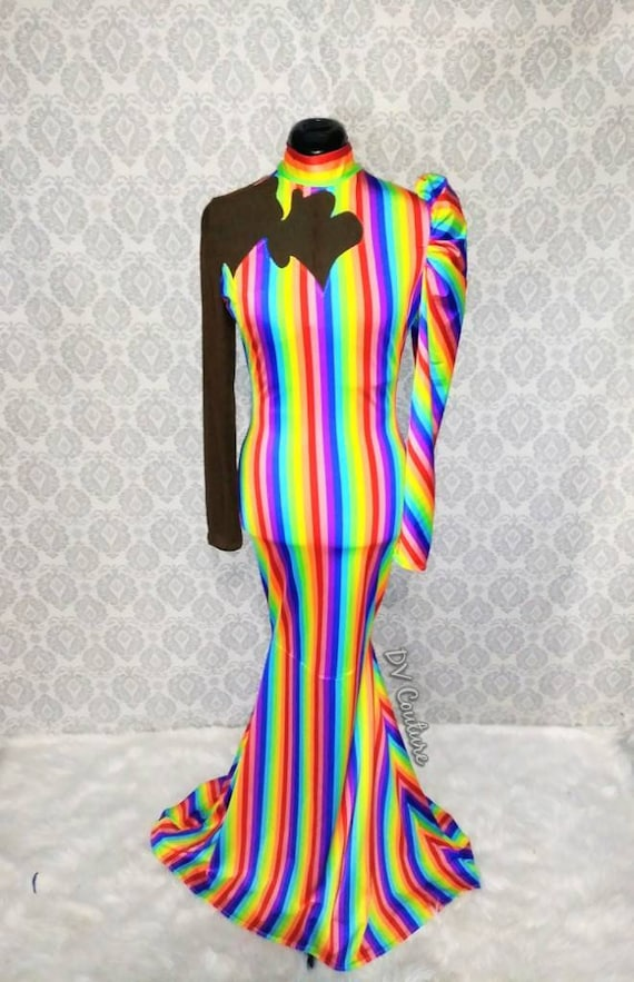Rainbow Bright Gown