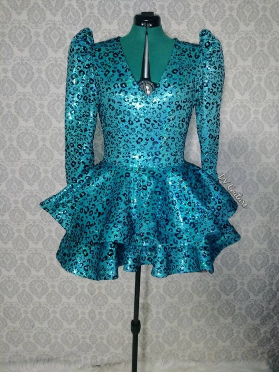 Sequin Leopard Babydoll