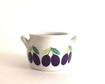 Arabia Finland Pomona Plum Butter Crock / Jam Jar
