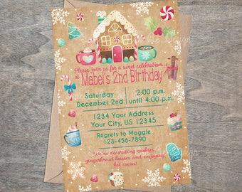 Hot Cocoa Party Invitations