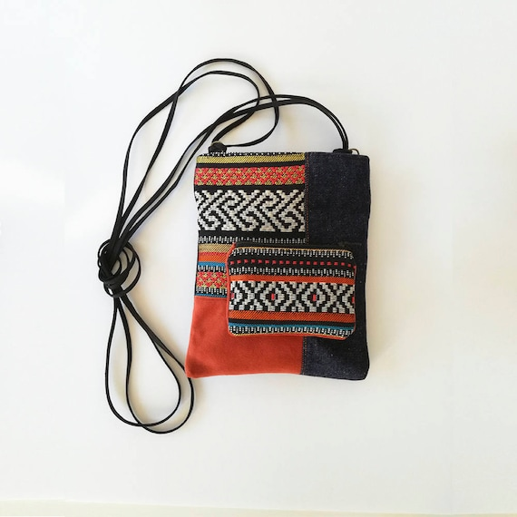 feb131a5ee Small phone cross body bag shoulder purse tribal passport
