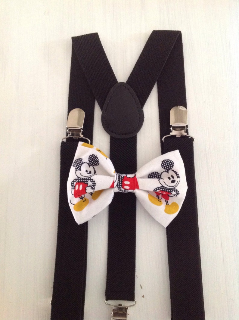 d48a6edbfa3a Children's MICKEY Mouse clip on bow tie with stripes | Etsy