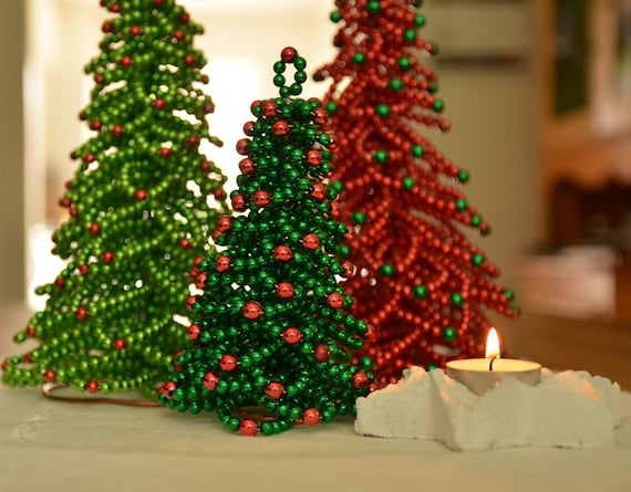 Chritmas Tree Beading Pattern Christmas Tree Tutorial Etsy