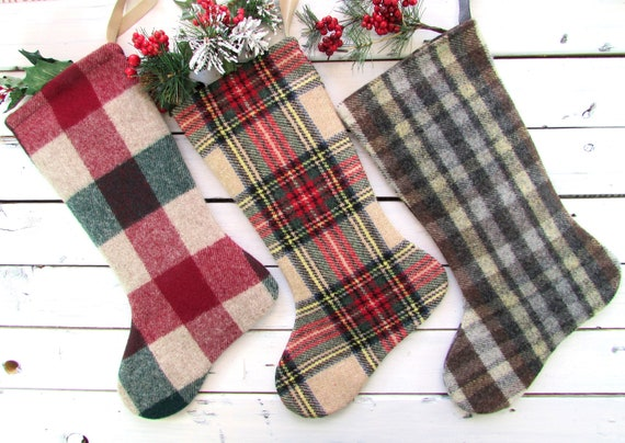image 0 - Plaid Christmas Stockings