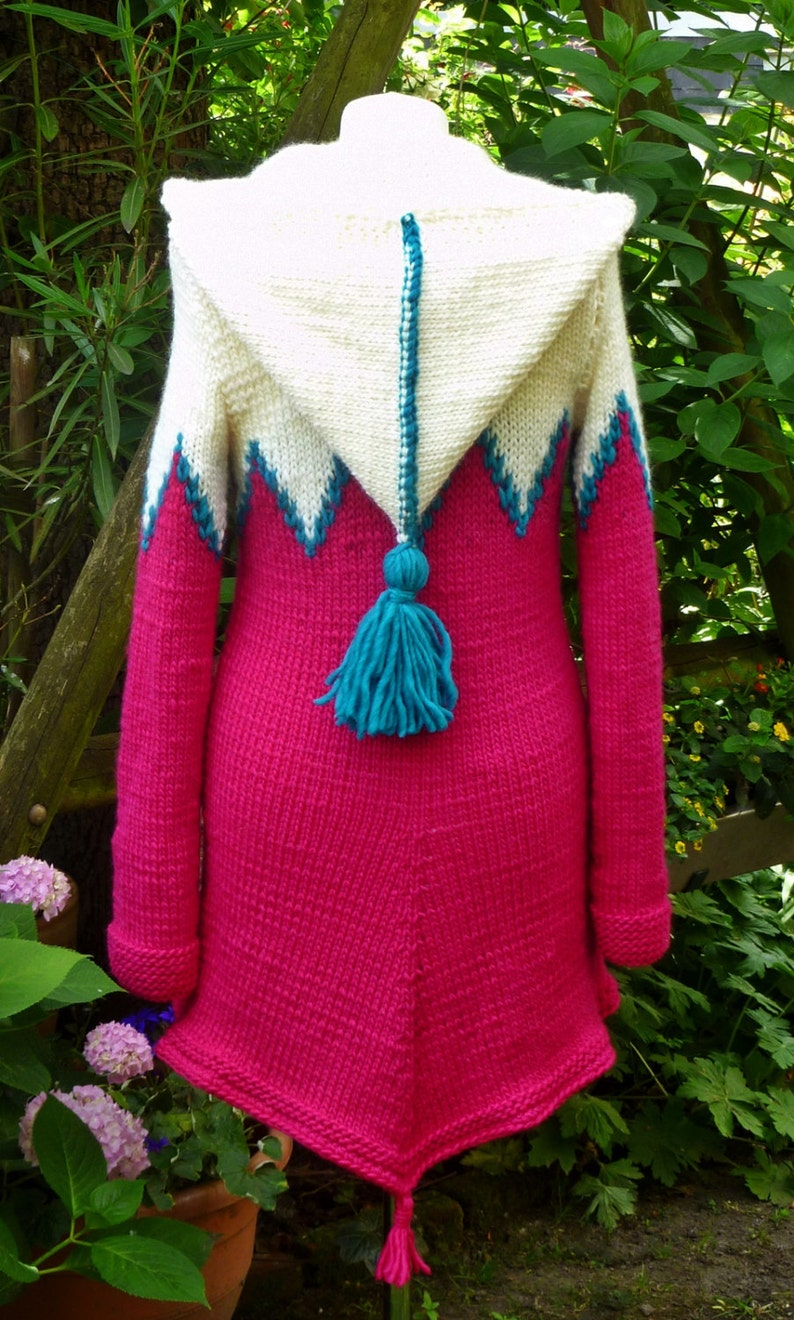 SALE 40/% Cardigan with pointed hood***S
