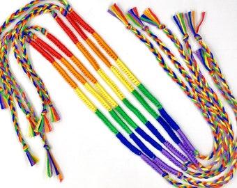 Rainbow Bracelet Sets LGBTQ Pride Queer Flag Bracelets - choose 2 to 40 bulk - lgbtqia Festival Wrap Wristband - Gay Lgbt Gift lgbtqa